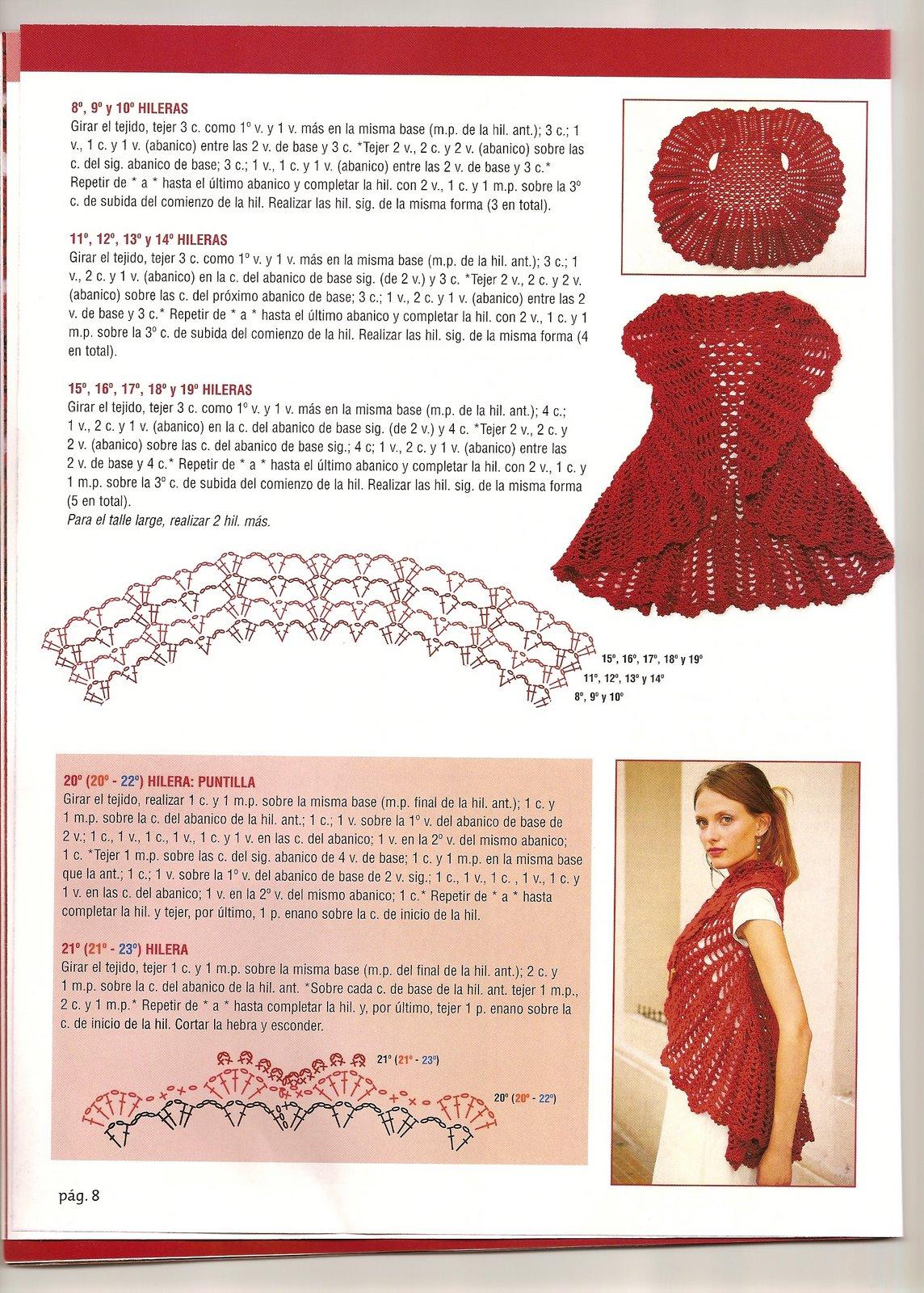Chaleco circular Crochet | Manos de Tete