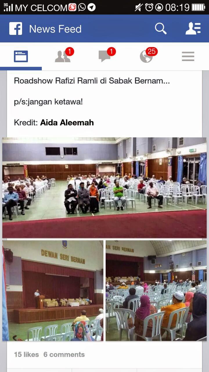 Program MB pilihan KETUM bertemu rakyat anjuran Rafizi