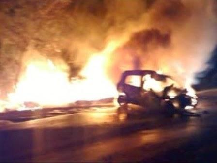 morre carbonizado ao bater carro na BR-262 em Bom Despacho