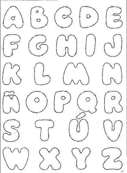 De todo en foami: Plantillas letras en foami