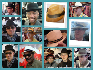The Hat House New York City collage of men's hats for sale