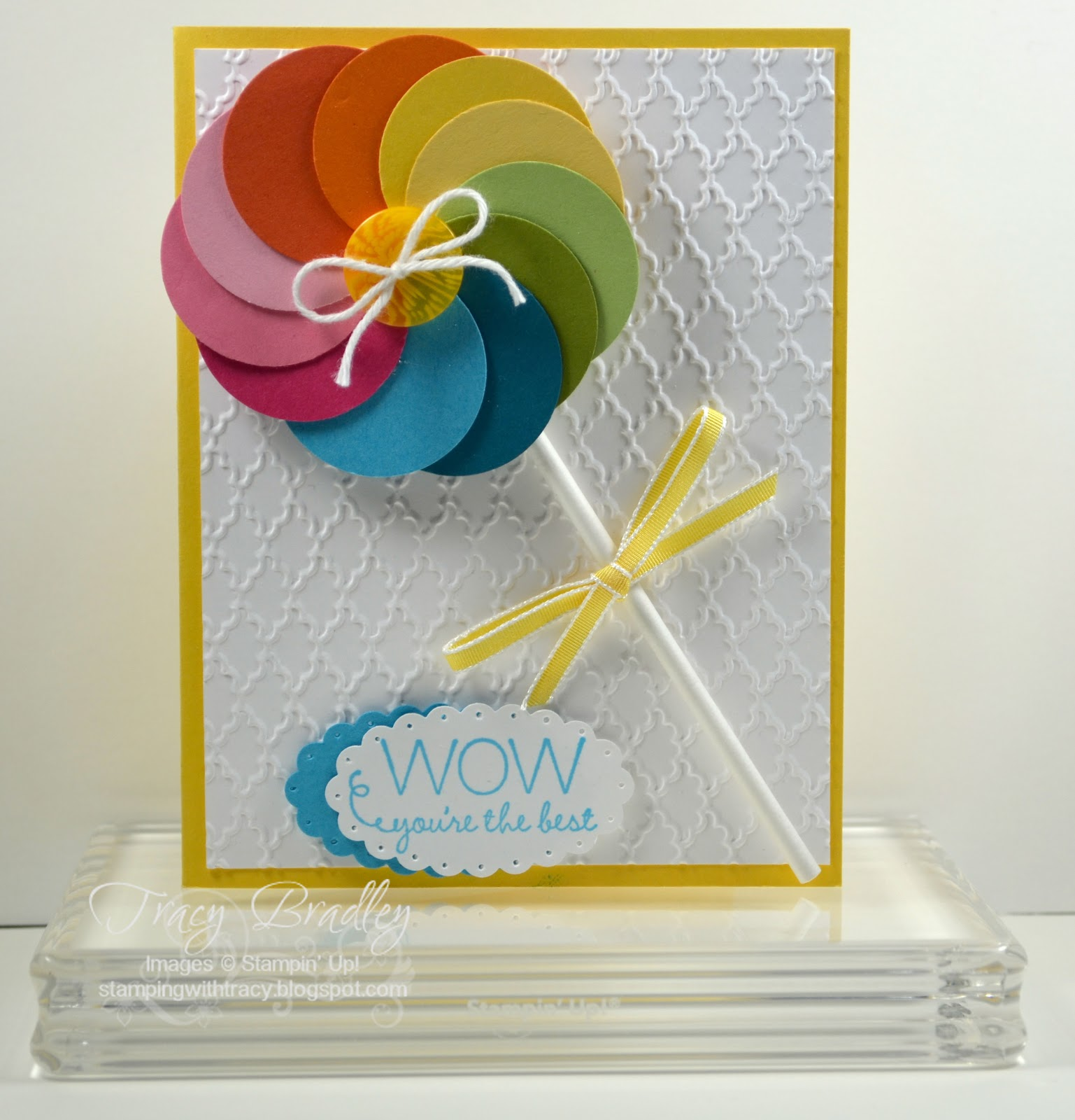 Lollipop Card Stamping With Tracy