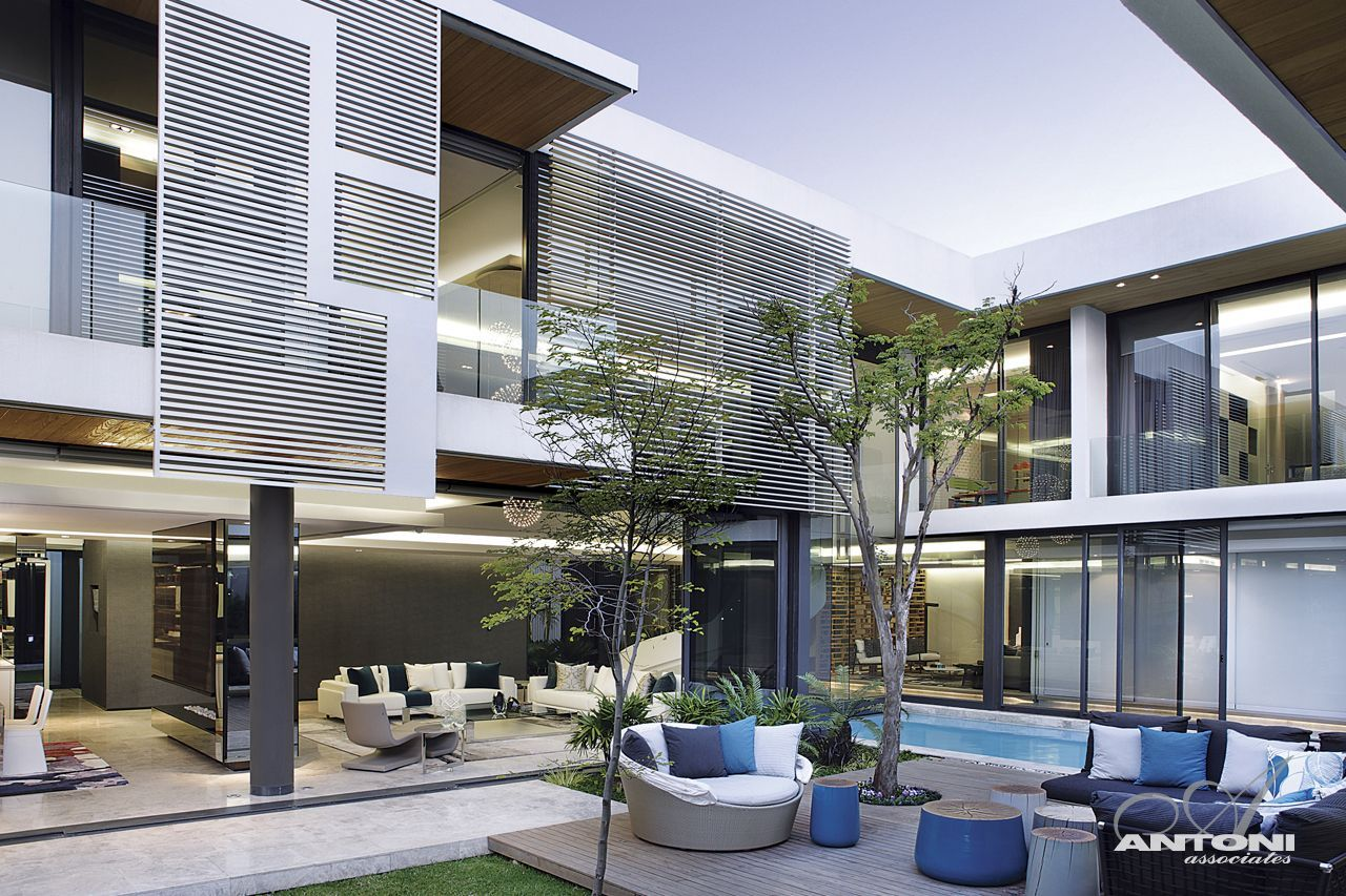 Modern cabinet dream homes in south africa 6th 1448 for Pool design johannesburg