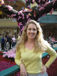 Anna in the Bellagio Botanical Garden
