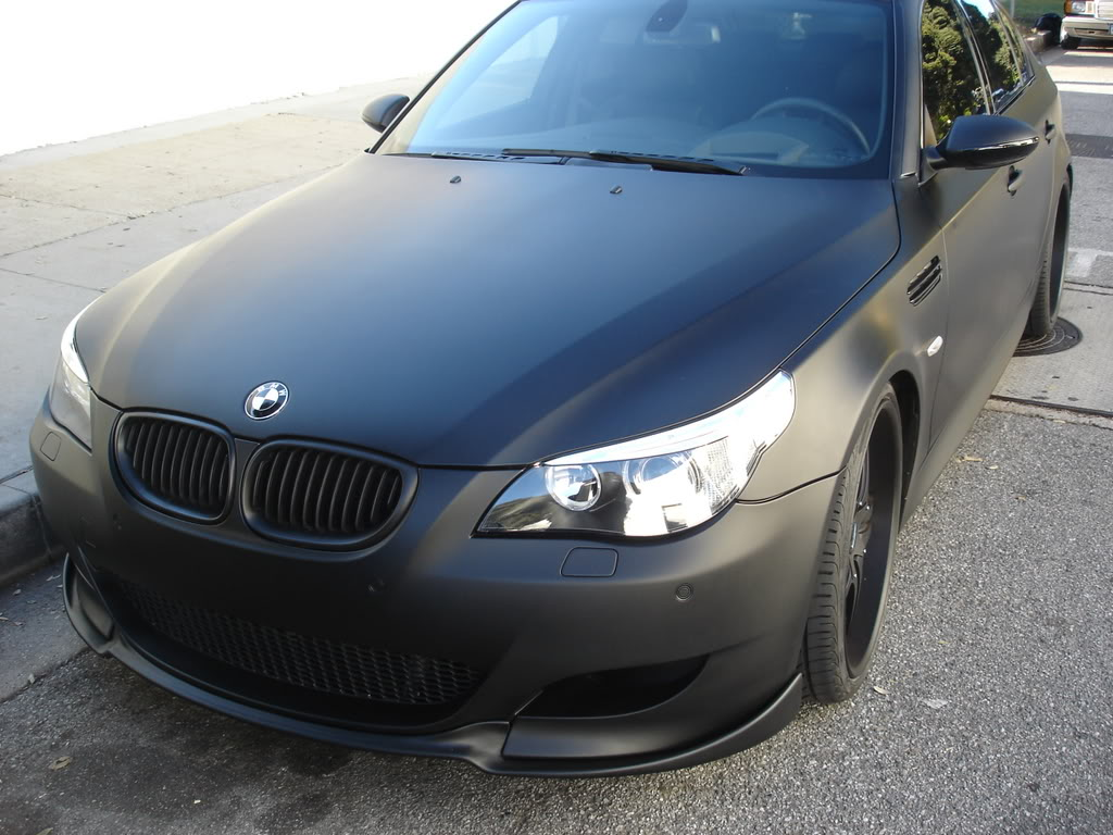 E60 BMW M5 Murdered Out Flat Black