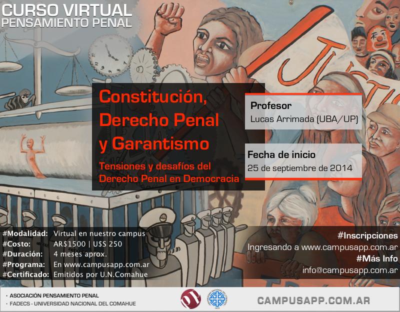 Constitución, derecho penal y garantismo - Prof. Lucas ARRIMADA