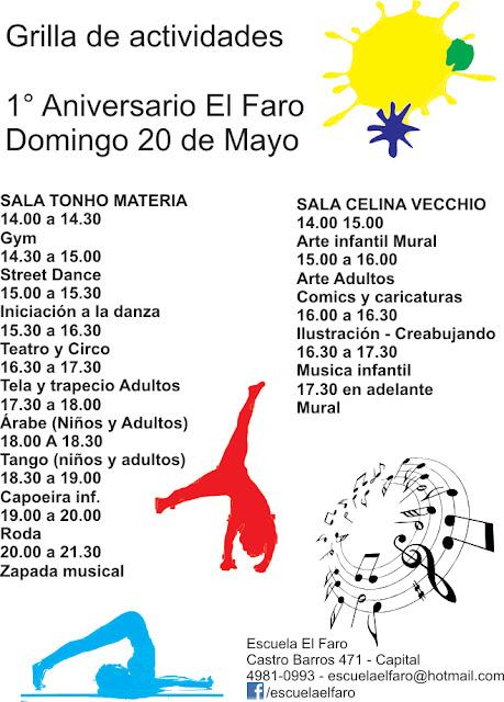 Escuela de arte y cultura el faro mayo 2012 - Actividades cumpleanos adultos ...