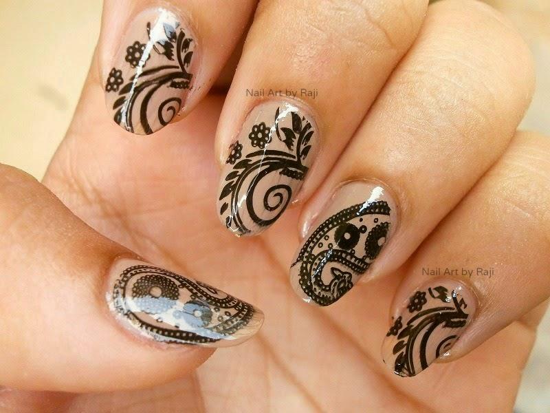 Glossy Black stamping on beige nails, Nude Nails, Neutral Nail, Nail art on neutral nails, Black and Beige Nail art, Black Nail art, stamping, Konad, Revlon Top Coat, Revlon Base Coat, Nail Art in India, Indian Beauty Blogger, Indian Nail Art Blogger, Indian Makeup Blogger
