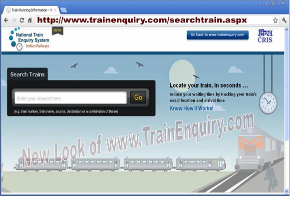 TrainEnquiry.com search trains
