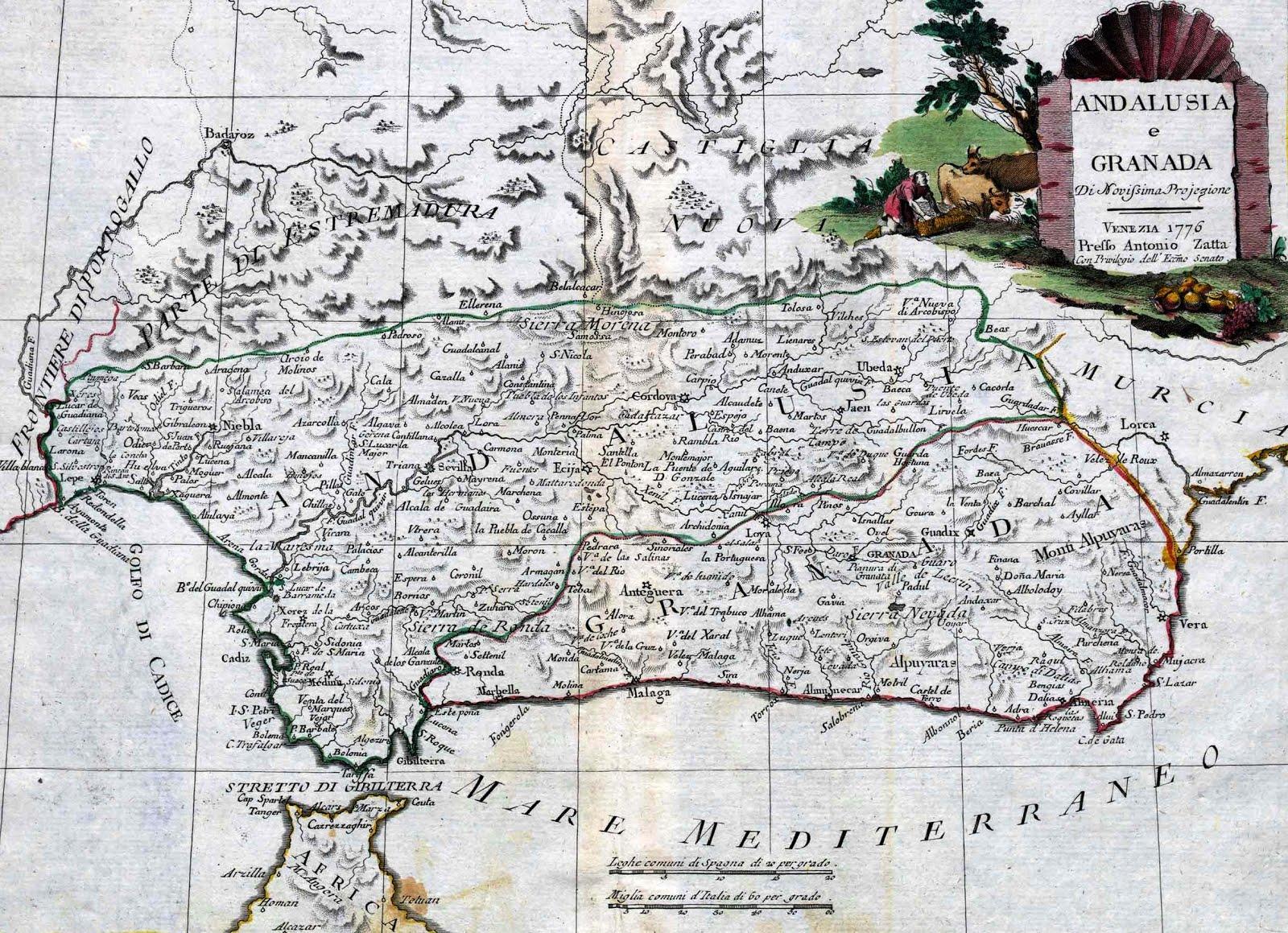 Granada y Andalucía 1776