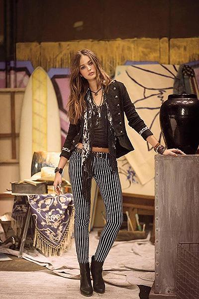 model Christina in a Ralph Lauren ad campaigns