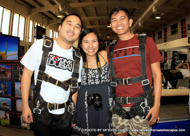 Ed, Lady and Kenneth at Skydive Dubai