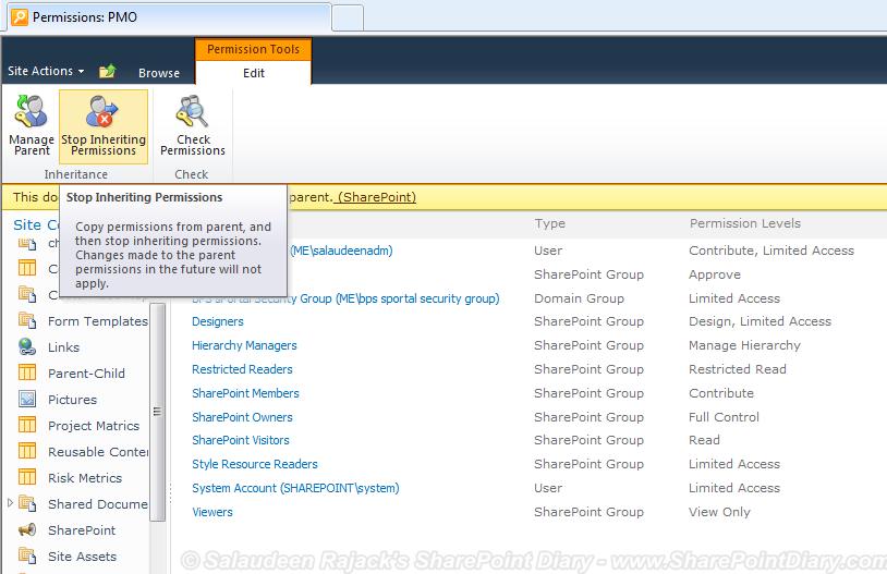 set permissions list views sharepoint 2010