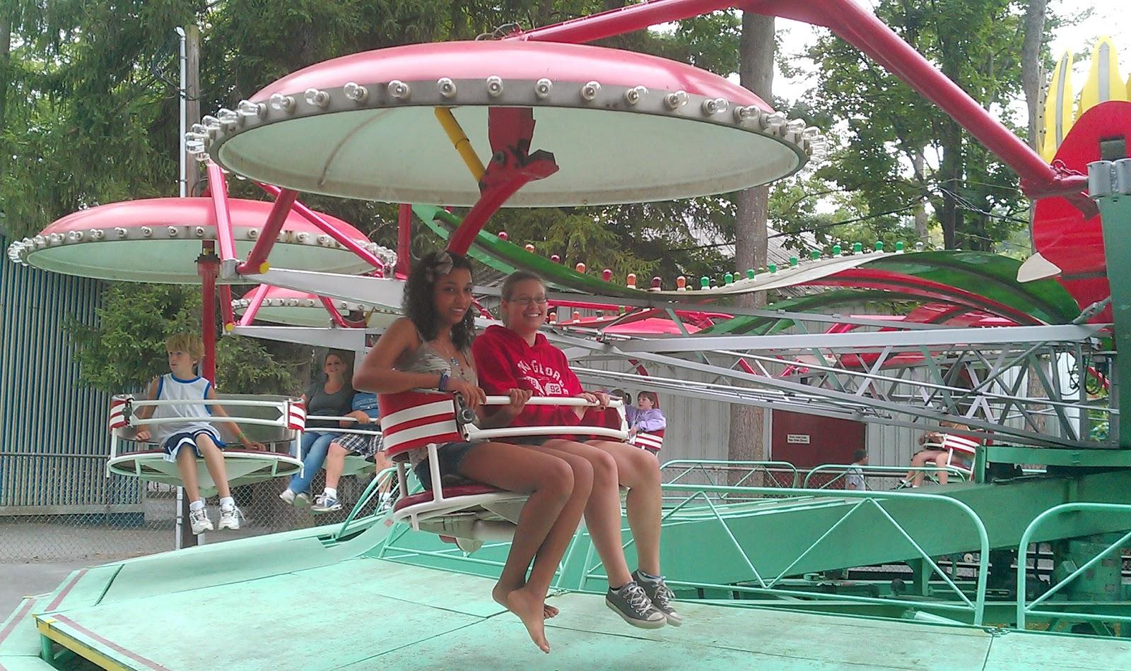 Enjoying the Parachute Ride at Knoebels