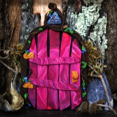 Magenta Fairy Door - Carol Marion