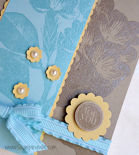 Coordinating scallop trim and embellishments