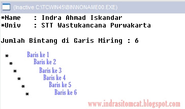 Tutorial dan Cara Membuat Garis Miring di Program C++