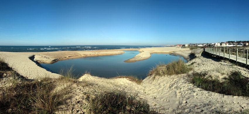 Panorama enquadrando todo o lago na imagem