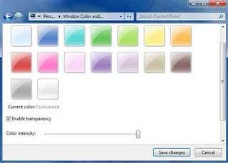 merubah warna taskbar windows 7