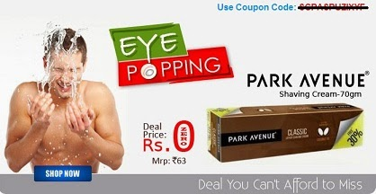 Can't Afford to Miss the Deal: Park Avenue Shaving Cream (70 Gram) worth Rs.63 for ABSOLUTELY FREE at Shopclues