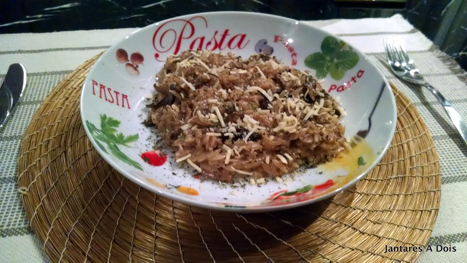 Receita de Risoni ao Molho de Cogumelos para o dia das mães