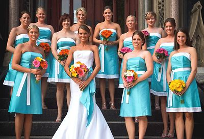 Blue Bridal Party Dress