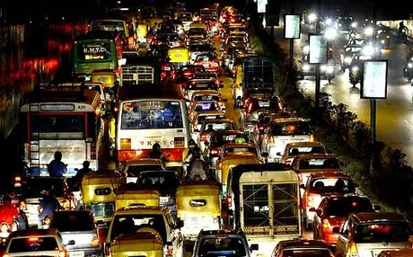 bangalore traffic jams I really hope i had a super power and could dissaper every damn person who  creates a traffic jam in bangalore #bangaloretraffic.
