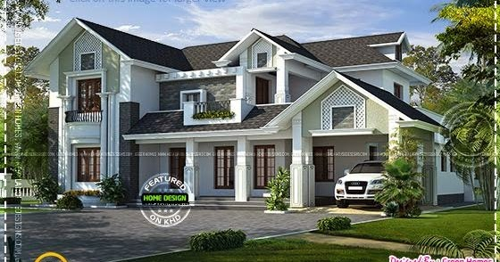 Western Style House Rendering Home Kerala Plans