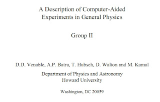 General Physics Laboratory Handbook :Howard University