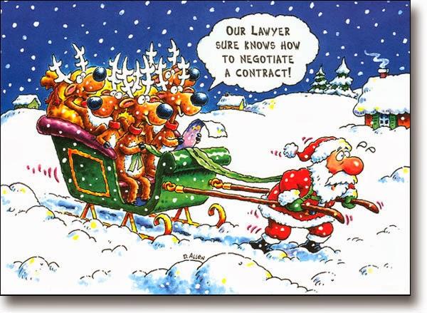 christmas cartoon reindeer employment contract