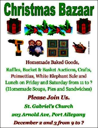 12-3 Christmas Bazaar, St. Eulalia's
