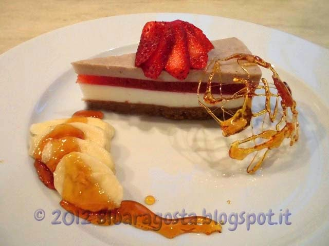 Cheesecake classica fragola e banana