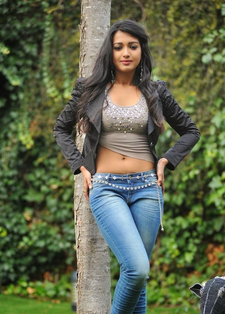 Cahterine Tresa in Lovely Half T-Shirt and Denim Jeans Must see Pics