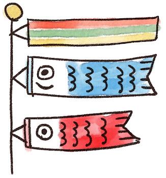 鯉のぼりのイラスト(こどもの日)