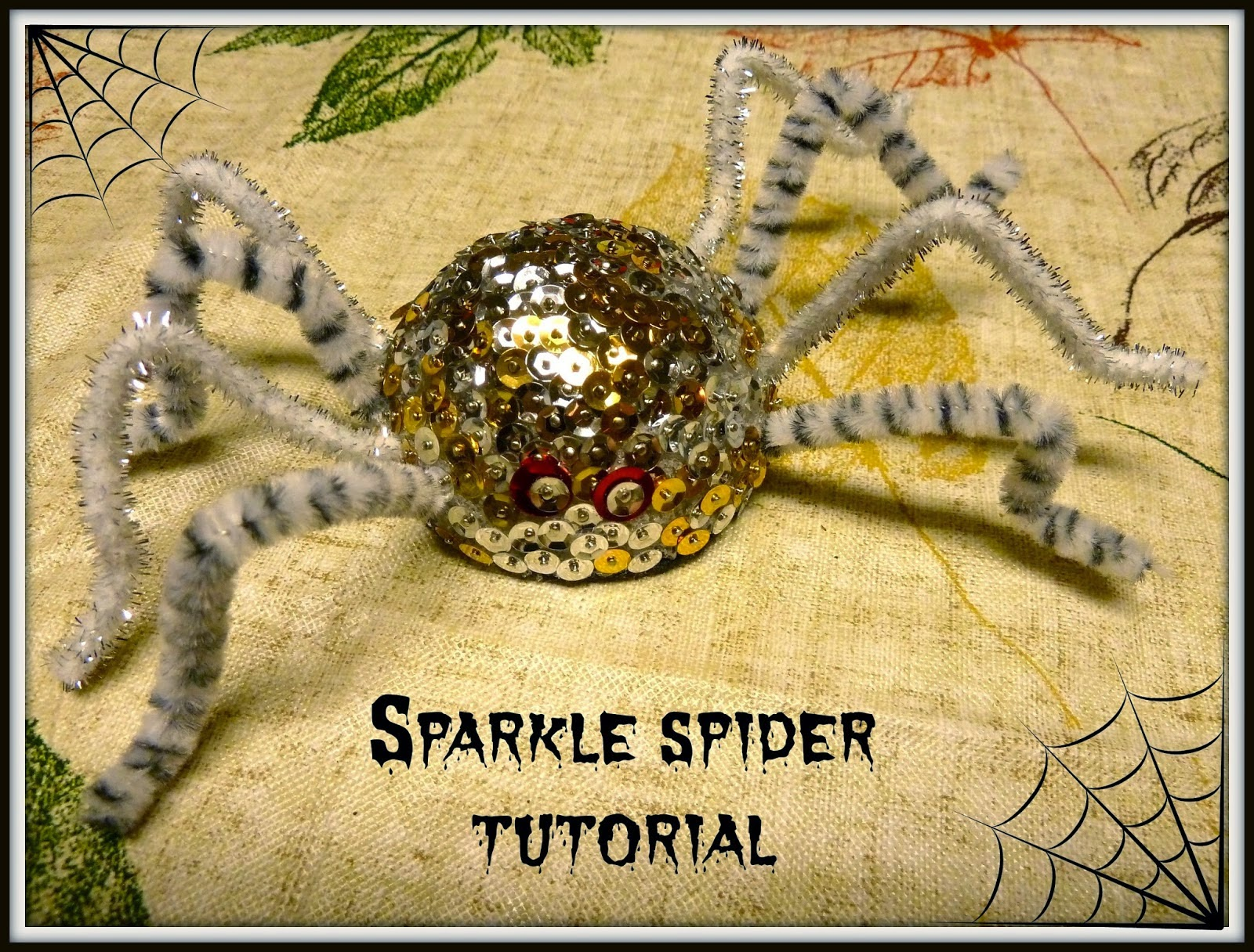 http://www.makeiteasycrafts.com/2014/09/sparkle-spider-tutorial.html
