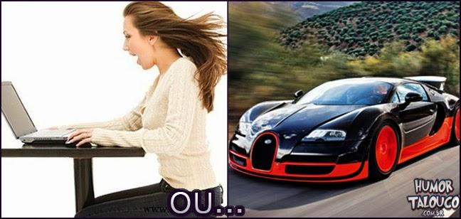 internet mais rápida do mundo ou o carro mais veloz
