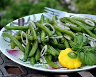 Chilled Green Bean Salad with Rosemary & Garlic Oil
