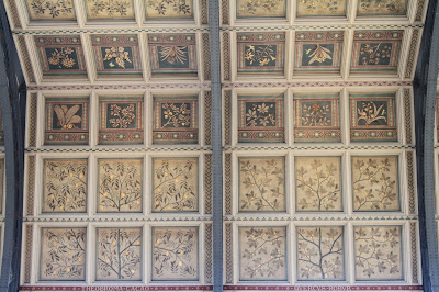 Ceiling Panels Depicting Plants