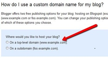 How do I use a custom domain name for my blog?