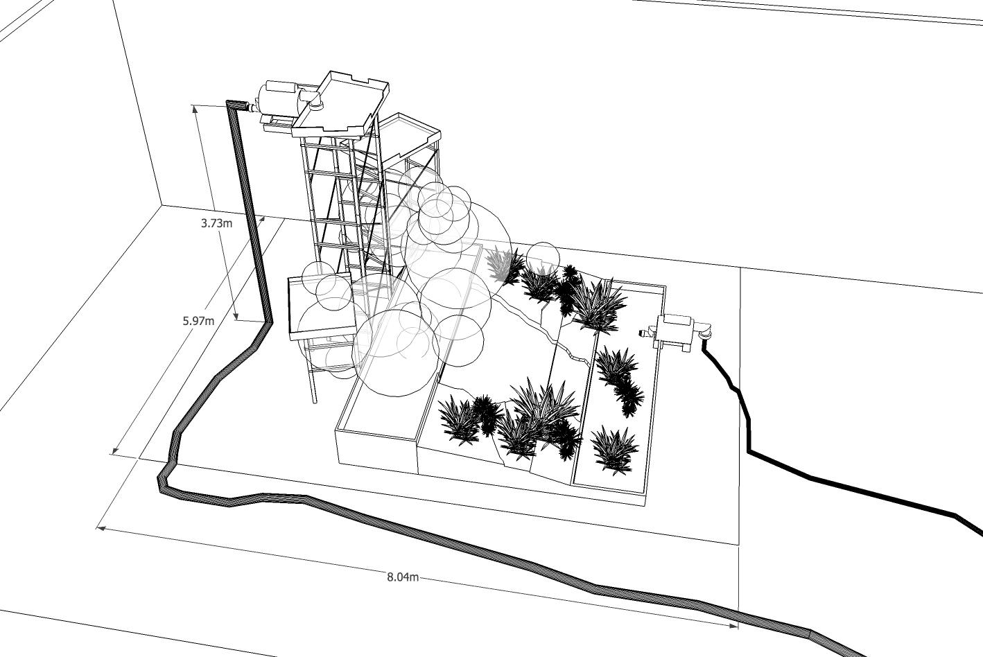 Alejandro osorio proyecto cascada ornamental for Bombas de agua para cascadas artificiales