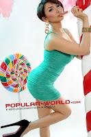 Foto Roro Fitria di Majalah Popular World