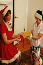 "Mrs. Clause spanks one of her elves for acting too gay! ""Clare Spanks Men"""