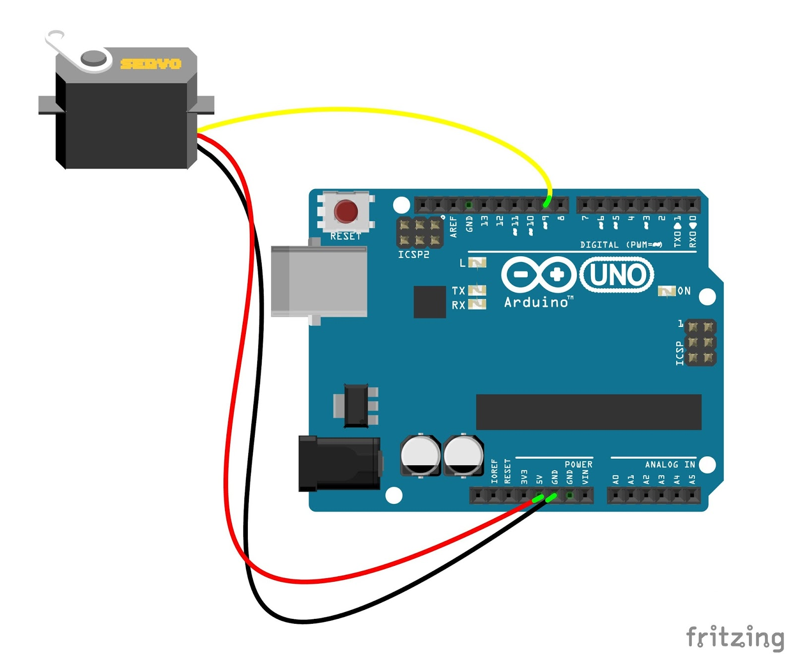 Servo Sweep With Serial Monitor And Knob Speed Control