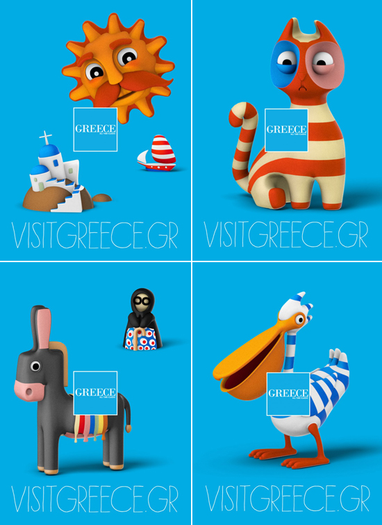 Visit #Greece campaign designed by Beetroot