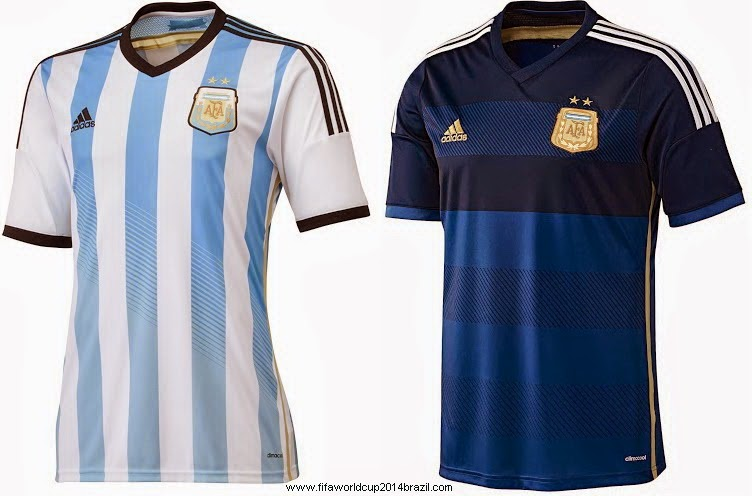 Argentina FIFA World Cup 2014 Brazil all Team Kit
