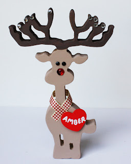 Personalised Christmas Decorations Reindeer Xmas  Baby 1st First