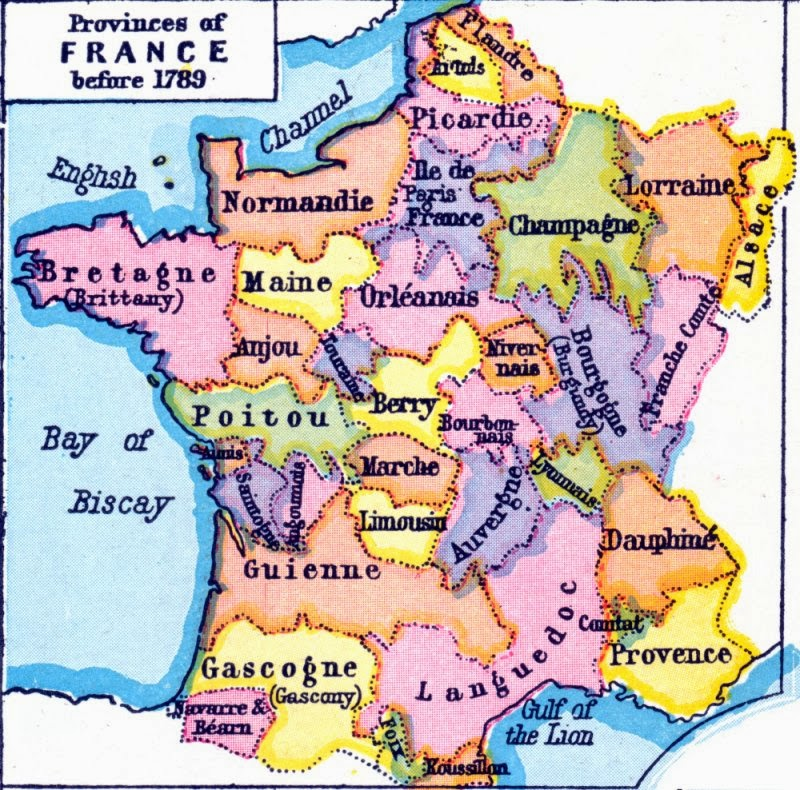 Springtime of Nations Redrawing of French Rgions to Buoy Right