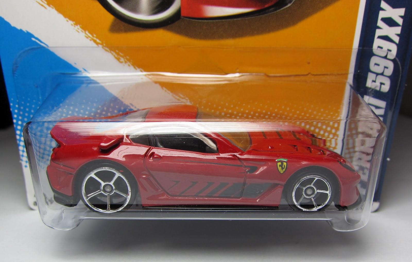 variation alert hot wheels ferrari 599xx with oh5 wheels - Rare Hot Wheels Cars 2012