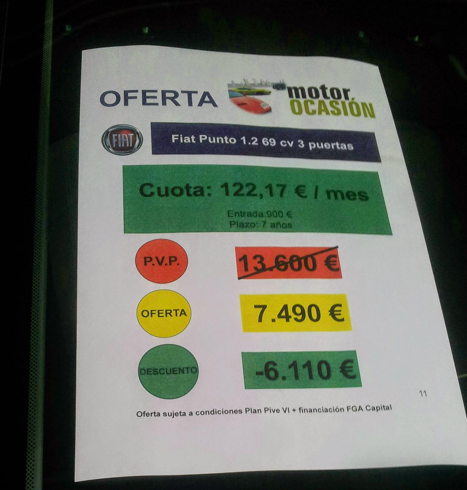 estafa precio coches oferta motor ocasion