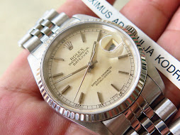 ROLEX OYSTER PERPETUAL DATEJUST SILVER DIAL - ROLEX 16234 - SERIE X YEAR 1992 - FULLSET BOX PAPERS